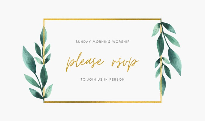 RSVP for Worship
